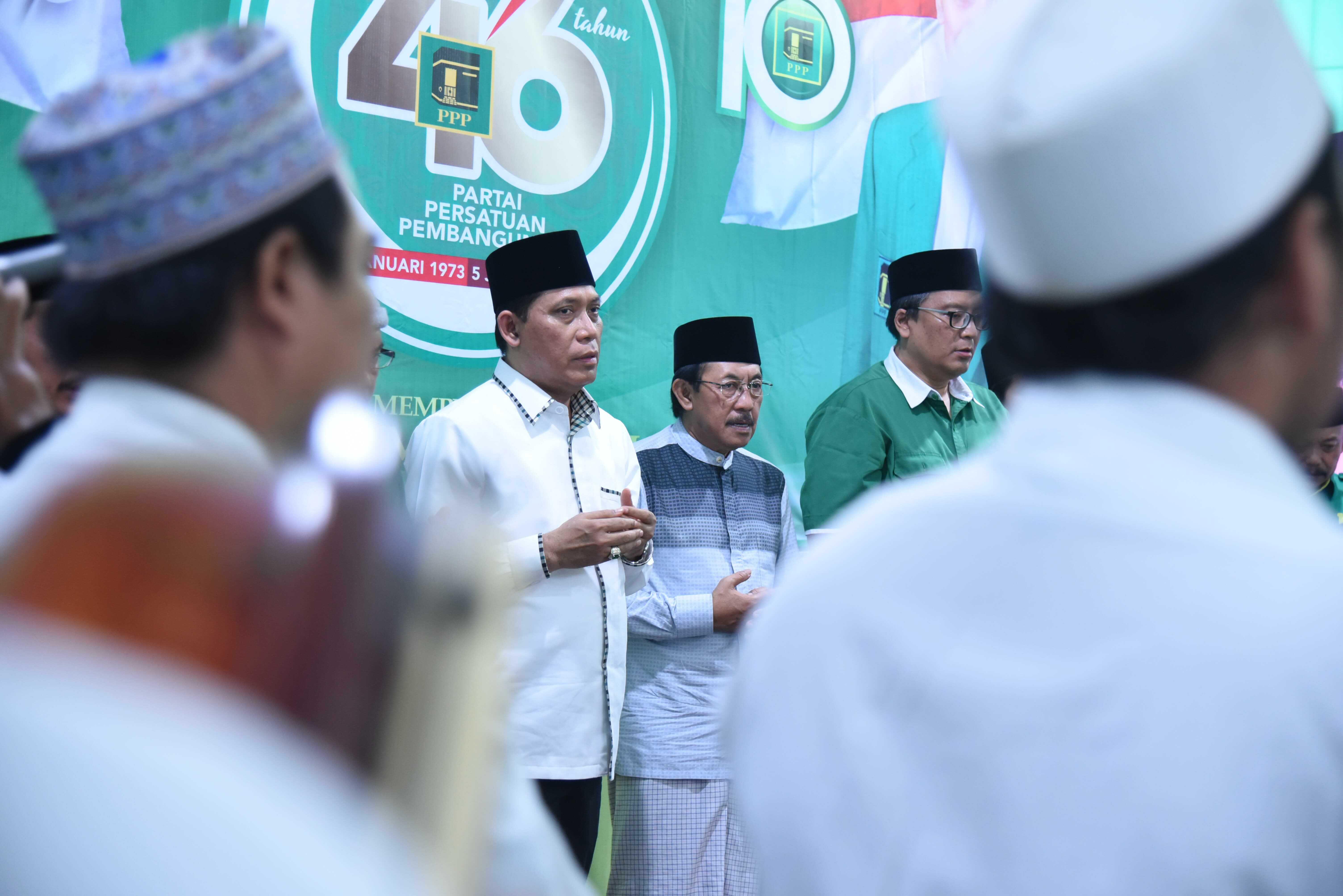 DPW PPP Jawa Timur Syukuran Harlah PPP ke-46 dengan 10 Tumpeng Hijau