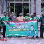 DPC PPP Tuban Baksos di Pemukiman Padat Sampai Pekerja Bangunan