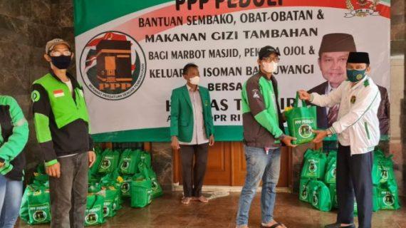Legislator PPP Salurkan 100 Ton Lebih Sembako dan Obat-obatan